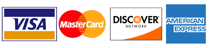 We accept Visa, MasterCard and American Express Cards for payment